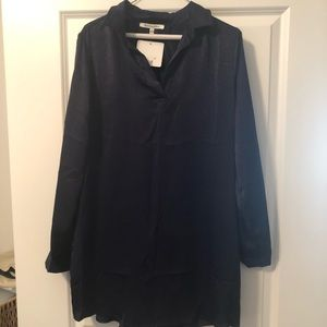 Brand New Navy Tunic with roll/button sleeves
